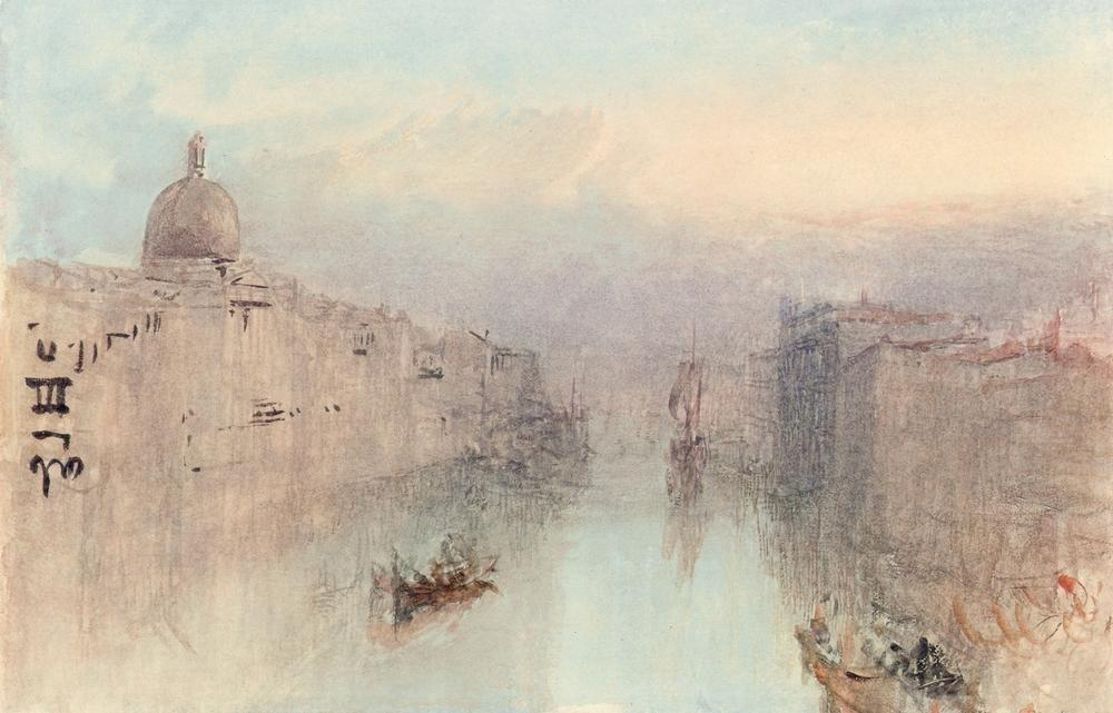 W.Turner, Canal Grande u. S.Simeone