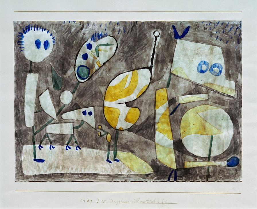 P.Klee, Ungeheuer in Bereitschaft