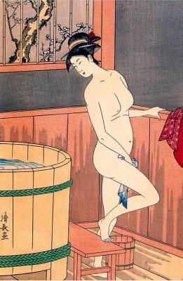A beauty bathing - Torii Kiyonaga