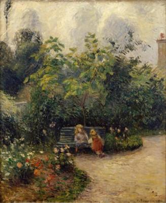 A corner in the garden in L'Hermitage - Camille Pissarro
