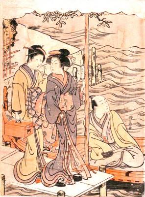 A young man at Sanbashi - Torii Kiyonaga