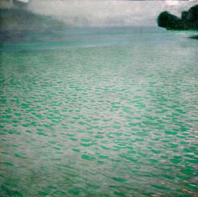 AM ATTERSEE (ON ATTERSEE) - Gustav Klimt
