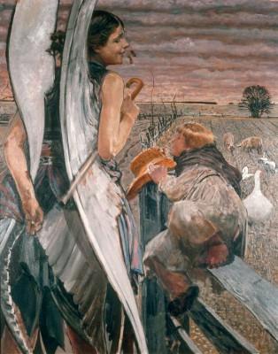 Angel and shepherd boy - Jacek Malczewski