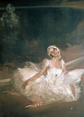 Anna Pavlova as the dying swan - John Lavery
