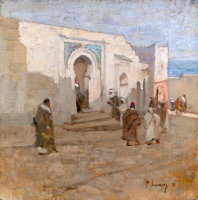 At the Mosque Door - John Lavery