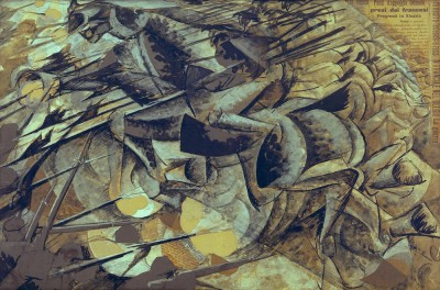 Attack of the Lances - Umberto Boccioni