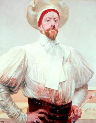 Autoportret w białym kostiumie - Jacek Malczewski