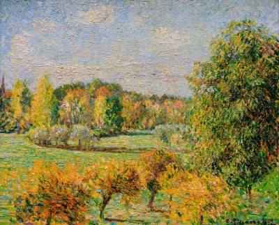 Autumn Mood with Nut Tree in Eragny - Camille Pissarro