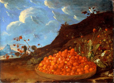 Basket of Wild Strawberries - Luis Meléndez