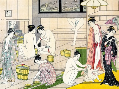 Bathhouse women - Torii Kiyonaga