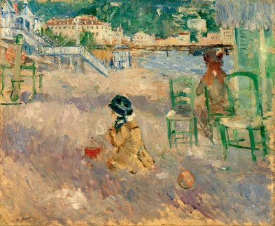 Beach in Nice - Berthe Morisot