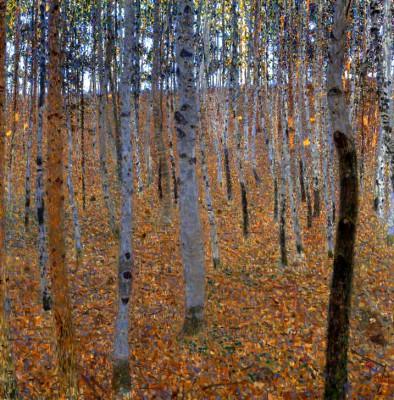 BEECH FOREST I - Gustav Klimt