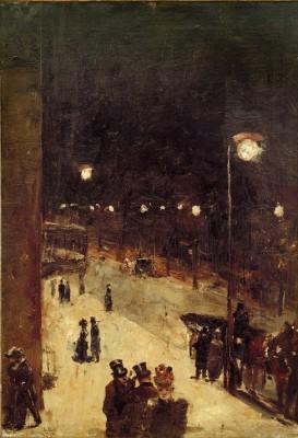 Berlin street at night - Lesser Ury