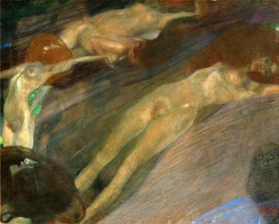 BEWEGTES WASSER - Gustav Klimt
