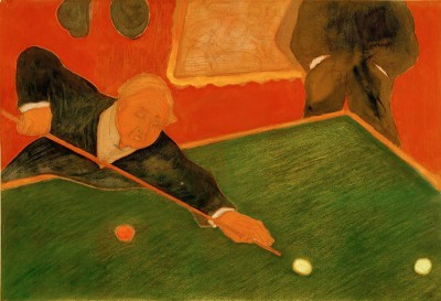 Billiards players - Marianne von Werefkin