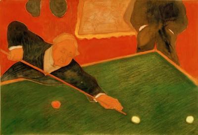 Billiards players - Marianne von Werefkin