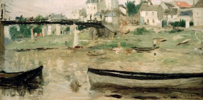 Boats on the Seine - Berthe Morisot