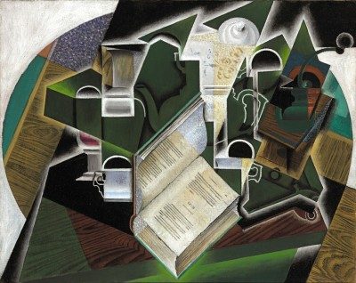 Book, pipe and glasses - Juan Gris
