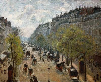 Boulevard Montmartre, printemps - Camille Pissarro