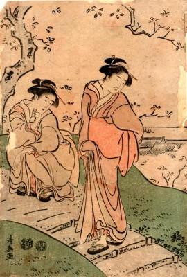 Cherry blossom viewing - Torii Kiyonaga