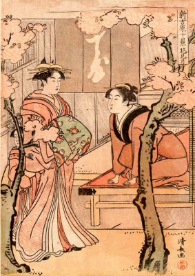 Cherry blossom viewing month - Torii Kiyonaga