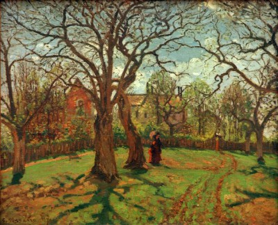 Chestnut trees at Louveciennes, spring - Camille Pissarro
