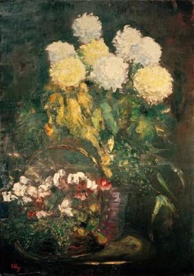 Chrysanthemum bouquet - Lesser Ury