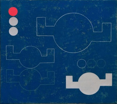 Composition with angular circles in lines and planes - Sophie Taeuber-Arp