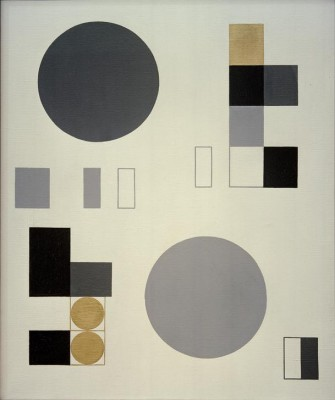 Composition with circles and rectangles - Sophie Taeuber-Arp