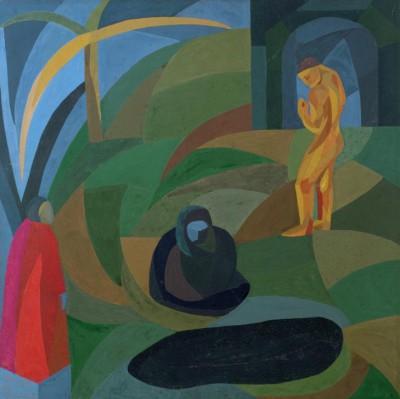 Composition with three figures - Otto Freundlich