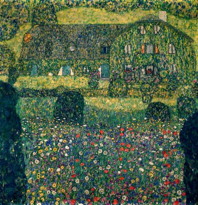 COUNTRY HOUSE ON LAKE ATTER - Gustav Klimt