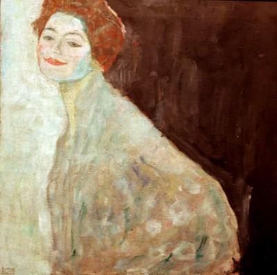 DAMENBILDNIS IN WEIS - Gustav Klimt