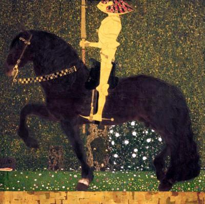 DAS LEBEN EIN KAMPF (RITTER; DER GOLDENE RITTER) - Gustav Klimt