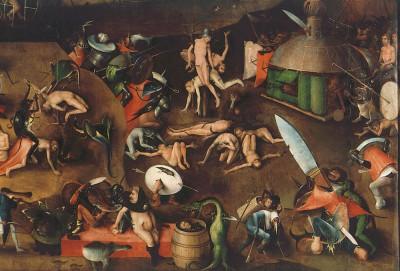 Das Weltgericht - Mitteltafel (2) - Hieronim Bosch