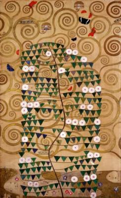 DER LEBENSBAUM (RECHTER ÄUSSERER TEIL MIT BLÜHENDEM STRAUCH - Gustav Klimt