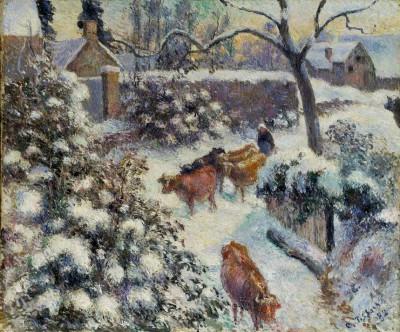 Effet de Neige à Montfoucault - Camille Pissarro