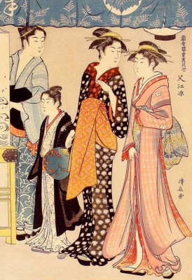 Enjoying the Evening - Torii Kiyonaga
