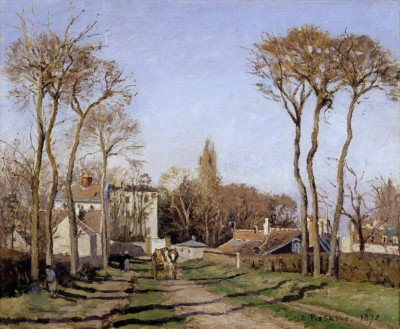 Entrance to village of Voisins - Camille Pissarro