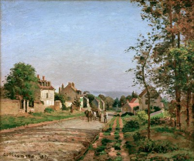 Environs of Louveciennes, the road - Camille Pissarro