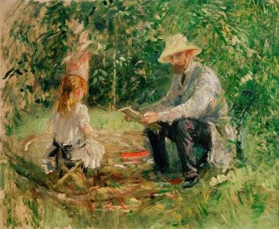 Eugène Manet and his daughter in the garden - Berthe Morisot