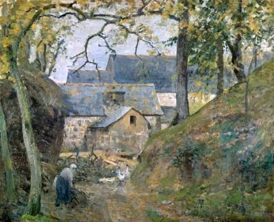 Ferme a Montfoucault - Camille Pissarro