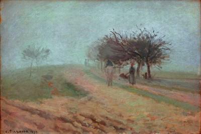 Foggy morning in Creil - Camille Pissarro