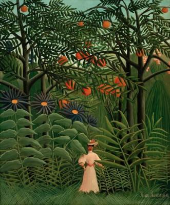 Frau im Urwald - Henri Rousseau