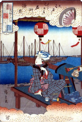 Full Moon at Takanawa - Torii Kiyonaga