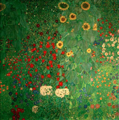 GARDEN WITH SUNFLOWERS - Gustav Klimt