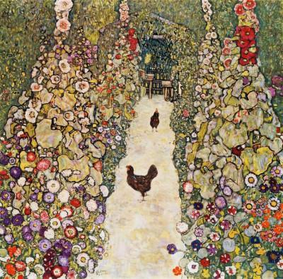 GARTENWEG MIT HÜHNERN - Gustav Klimt