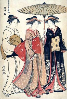 Geisha in Tachibana-cho - Torii Kiyonaga