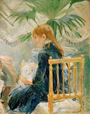 Girl and dog - Berthe Morisot