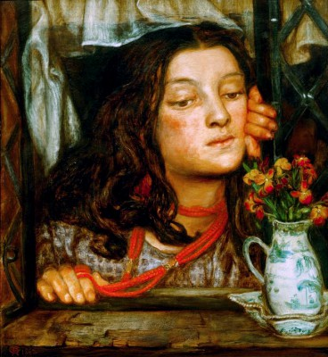 Girl at a lattice - Dante Gabriel Rossetti