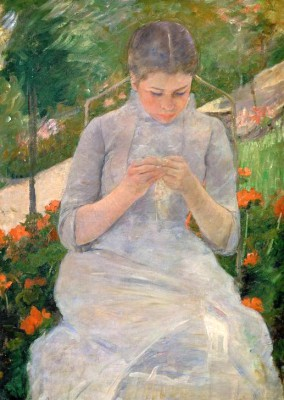 Girl in the Garden - Mary Cassatt